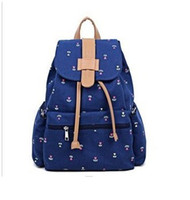 Wholesale Multifunction Retro Fashion Day Canvas Backpack School Bag Large Rucksack for girl D