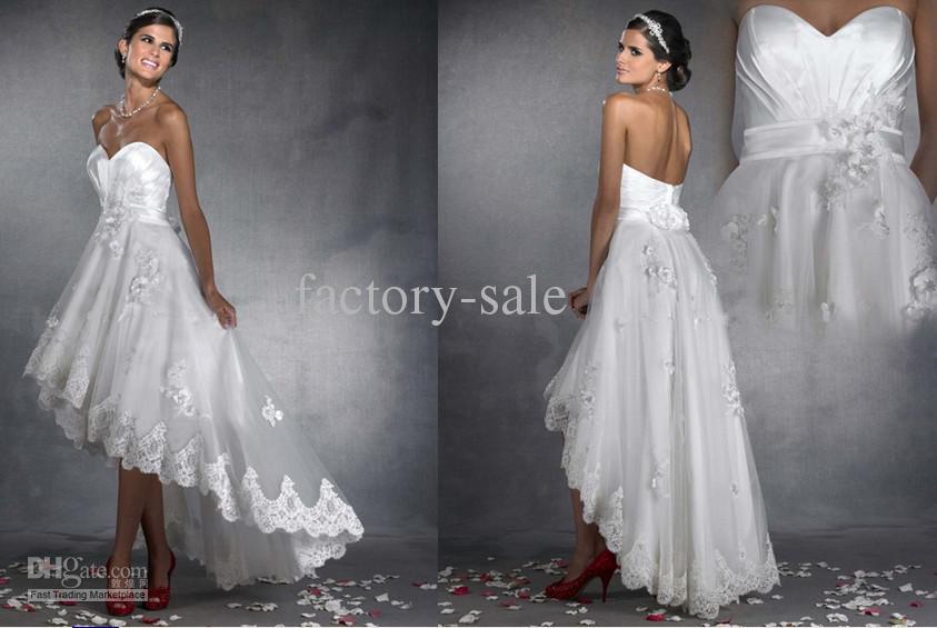 2014 Beach Wedding Dresses A Line Sweetheart Empire Summer