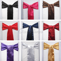 banquet chair ties - Satin Chair Sashes New Christmas Craft Decoration banquet Sash Hot Sale Craft For Christmas Wedding Bows Tie Decor Craft