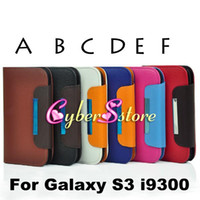 Wholesale Wallet Purse Litchi Lady Bag Hand Strap PU Leather Case Cover With Credit Card Slot Slots Pouch For Samsung Galaxy S3 i9300