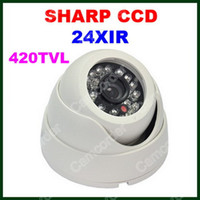 Wholesale 24 IR Led Night Vision Security Camera CCTV mm Lens Dome Camera Infrared Camera Indoor CCD Wide Angle From Camcorder