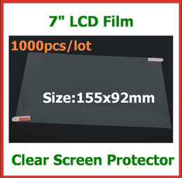 1000pcs Universal 7 inch Tablet Screen Protector Guard LCD Screen for Tablet PC MID GPS MP4 Size 155x92mm Protective film