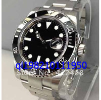 Luxury automatic men s watch wristwatch - free shippng Luxury Men s mm SUB Ceramic dial Diver Date Stainless Steel apphire Glass Automatic wristwatches mens watches