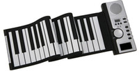 Wholesale 49 Keys Flexible Piano with power adaptor Roll Up Soft Electronic Foldable Keyboard Synthesizer With MIDI Out
