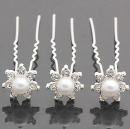 20pc Clear Crystal Wedding Party Bridal Rhinestone Pearl Hair Pins Clips