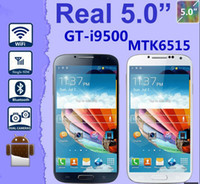 Wholesale I9500 S4 Android WIFI MTK6515 Quad Band inch Single SIM hdc Unlocked Smart Cell Phone