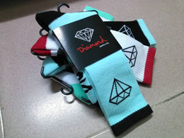 Wholesale DIAMOND Supply Co Crew Socks Thick Double layer Heel and Toe JACQUARD KNIT PATTERN Colors