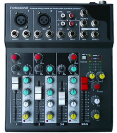Wholesale F4 Channel Mixing Console Mixer Console DJ karaoke Music Power Mixer For Stage Home Karaoke