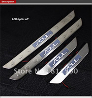 Wholesale LED Stainless Door Sill Scuff Plate For KIA SOUL car trim