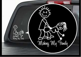 (100 pieces  lot) Wholesale Making my family Vinyl Decal   Window Sticker Stick Figure Sexy Bad Car Decal