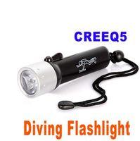 Wholesale CREE Q5 Led Diving Flashlight LED Submarine Light Underwater Torch Waterproof Flash Light Lamp colors