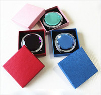 Wholesale Compact mirror Lover Gift Wedding Favor Crystal Makeup Mirror With FREE Packing Case Holder