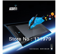 Wholesale W58 quot digital wireless2 Ghz RF interactive graphic drawing tablet cordless pen pad