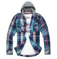 Wholesale GTW Brand Men s Fashion Designer Mens Plaid Shirt Slim Fit Men Clothing Autumn Long Sleeve Cotton Casual Shirts