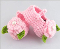 Yes crochet yarn - Crochet baby snow booties first walker shoes loops design cotton yarn pairs M