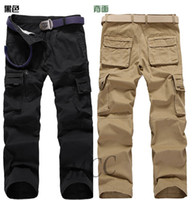 Wholesale 3071 New HOT High quality CASUAL Multi pocket loose big yards Washed Cargo Pants WORK PANTS TROUSERS Men s Pants SIZE