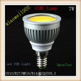 GU10 E27 MR16 E14 B22 E26 7W White Warm White COB LED Light Bulbs 770 lumens led Spotlight