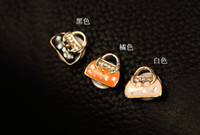 Wholesale Diamond handbag high quality alloy button stickers for Iphone G S G IPAD