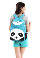 Wholesale The New Panda Backpack Canvas Backpack New Bag Lovely Students lt lt lt