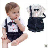 Boy Spring / Autumn Short Summer 2013 suit, children's wear boy new baby clothes and children star gentleman strap