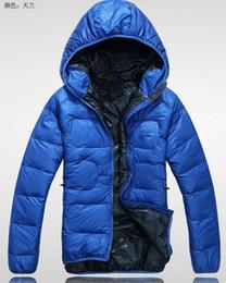 Wholesale Men Wear Thick Winter Outdoor Windbreaker Heavy Coats Down Jacket Clothes M L XL XXL Black Blue Green Red fs