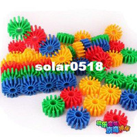Wholesale Candice guo Hot sale colorful soft plastic blocks gear shape baby DIY educational toy G16