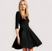 Wholesale 2013 latest version woman Dresses Long sleeve Round collar Fashion Dresses Princess chiffon skirt