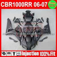 ALL Flat black 7gifts+ Cowl Injection Mold For HONDA CBR1000R...