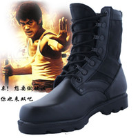 work boots - fashionable man leather Martin boots High boots Work boots leather boot army boot