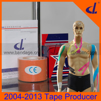 Wholesale Muscle Kinesio Tape cm cm cm cm x m DL Brand Kintape Hot Sale Usage manual Kinesiology pure tape Factory For Sports