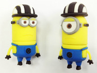 Wholesale Cute Despicable Me black hat Minions toy real GB GB GB GB GB USB flash memory stick drive usb stick pendrive key thumbdrive