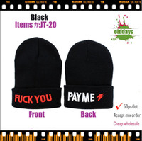 Red Embroidered Cowboy Free shipping Olddays JT-20 style beanie fuck you pay me beautiful winter hats caps man and women Accessories 50pc cheap sale