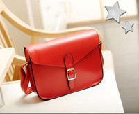 Women Plain PU Fashion Red Bags Vintage Shoulder Bags Cross Body Bags Messenger Bags Ladies Bags Simple Casual Style Cheap Bags Envelope Bags Newest L16