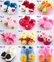 Unisex Summer Fur 2013 new ugg knit boots crochet baby booties red (0-12) M toddler shoes winter snow boots 14pairs