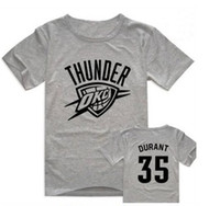 Wholesale All Star Kevin Durant Thunder No T shirt short sleeve cotton T shirt multicolor for fans