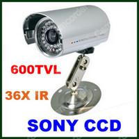Cheap 36IR LED 600TVL SONY CCD Night Vision Waterproof Bullet Camera High Resolution CCTV Security Camera