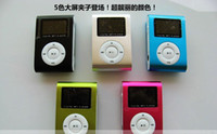 Wholesale LED Screen Mini MP3 Player with clip MP3 support SD TF Card with retail box
