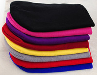 Wholesale Unisex Men Women Solid Color Warm Cuff Plain Acrylic Knit Ski Beanie Skull Hat