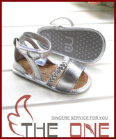 Wholesale Children s Sandals girl s PU velcro footwear silver toddler girl s footwear for summer years old shoes