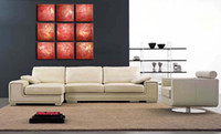 Wholesale Original Abstract Canvas Oil Painting100 Handmade Red Color Paint Set Decor Home Unstretched Artwork As Perfect Gift Online Art Gallery