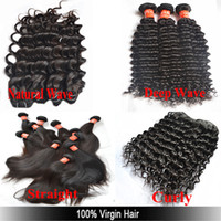 Wholesale A Guarrantee Cheap Unprocessed Virgin Brazilian Weft Hair Extension Bundle Natural Wave Deep Wave Curly Straight Hair Weave