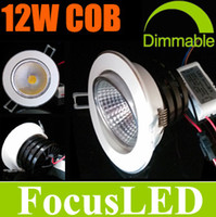 Wholesale 2014 Newest Design COB W Watt Dimmable LED Downlights inch Recessed Lamps With Power Supply Fixture Ceiling Lights CE ROHS CSA UL