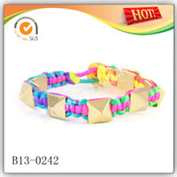 Wholesale 2013 fashion jewelry medical id bracelets nylon bracelets with alloy