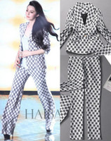 Wholesale New new Fashion print women set work jacket l0941 jacket Pants