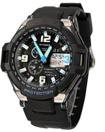 Sports Swimming Waterproof Watches Dual Display Digital Led Wrist Watches Men PU Band LED Night Light Drop Free Shipping