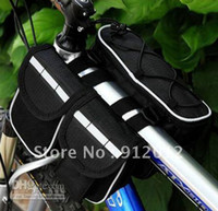 Wholesale NEW IN Multi function bike bicycle front frame tube pannier Bag