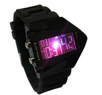 Wholesale Silicone Digital Sports Unisex Plane Light Watch Fighter Plane Oversized Stylish Cool LED Sport watch Sport D9B004