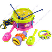 Wholesale New Roll Drum Musical Instruments Band Kit Kids Children Toy Gift Set