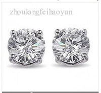 Wholesale 5 ct Round Diamond Stud Earrings I SI2 GIA Certified