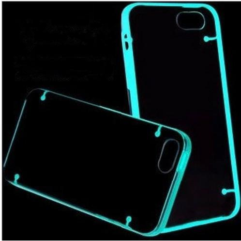 Buy Glow Dark Luminous Hybrid Hard Clear Transparent Crystal Plastic Soft TPU case iphone 5C 5S 4S
